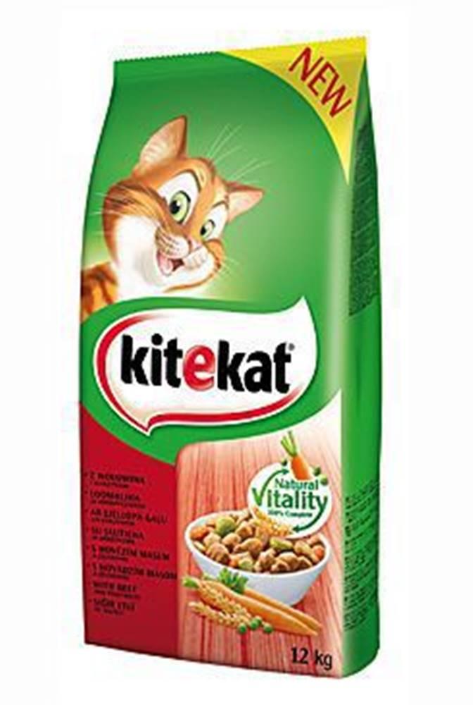 Kitekat Kitekat Dry hovězí se zeleninou 12kg