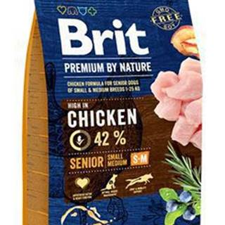 Brit Premium Dog by Nature Senior S+M 3kg