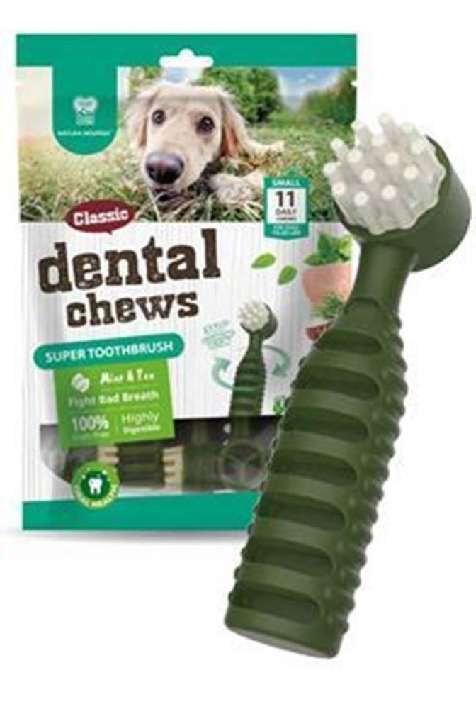 Ostatní Dental CHEWS Super Toothbrush mäta a čaj 170g / 11ks