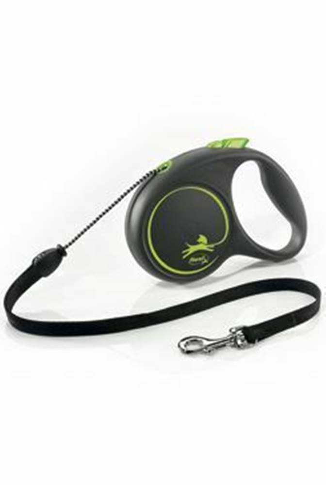 Flexi Vodítko FLEXI Black Design M lanko 5m/20kg zelená NEW