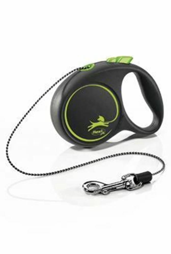 Flexi Vodítko FLEXI Black Design XS lanko 3m / 8kg zelená NEW