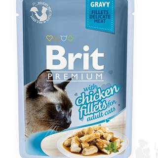 Brit Premium Cat D Fillets in Gravy With Chicken 85g