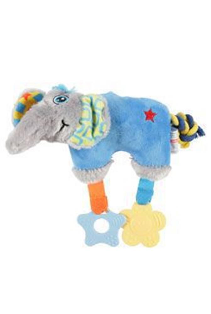 Zolux Hračka pes ELEPHANT COLOR plyš modrá 20cm Zolux