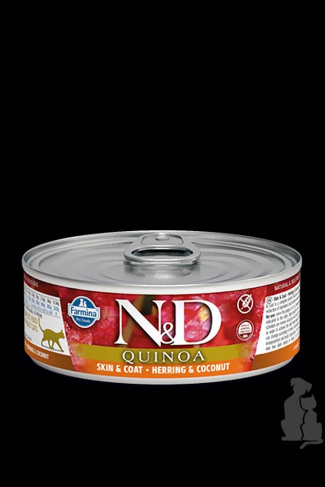 N&D (Farmina Pet Foods) N&D GF CAT QUINOA Herring & Coconut 80g