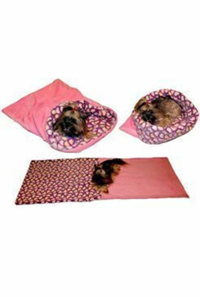 Ostatní Spací vak 3v1 srdiečka / ružová XL pes, mačka č.60