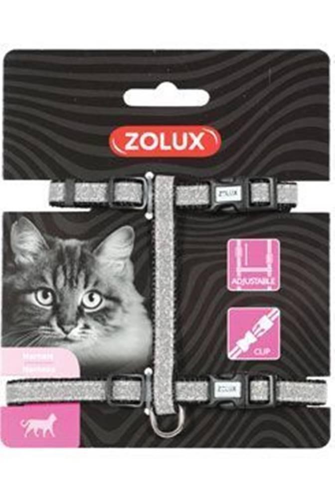 Zolux Postroj mačka SHINY nylon čierny Zolux
