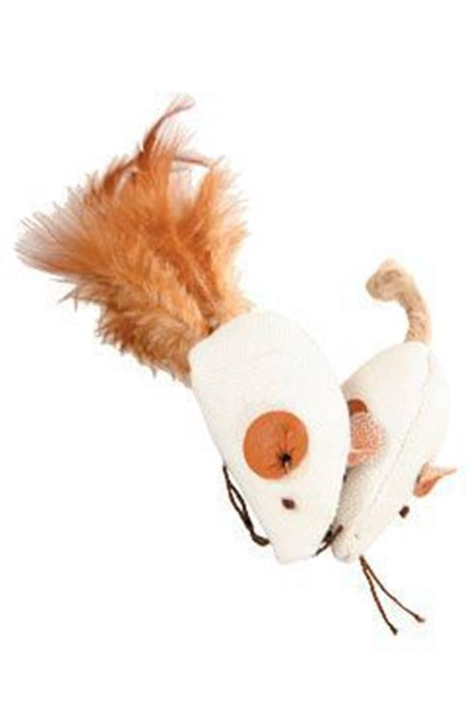 Zolux Hračka kočka myš bílá 2 x 4cm textil Zolux