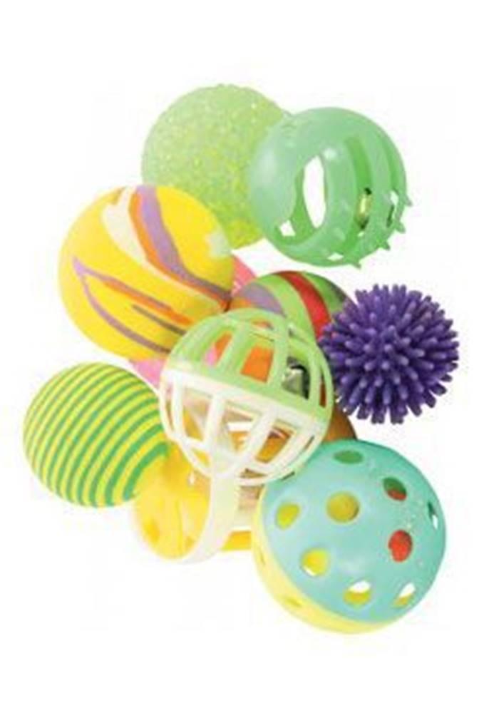 Zolux Hračka kočka sada míčků 10ks 4cm mix barev Zolux