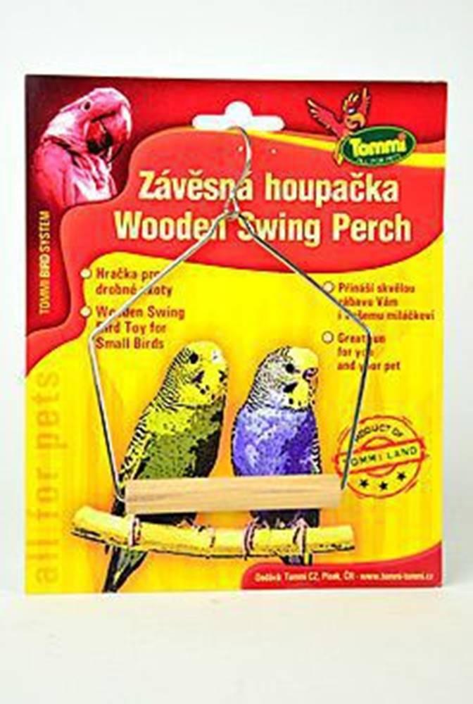 Tommi Houpačka malá pro ptáky dřevo - kov