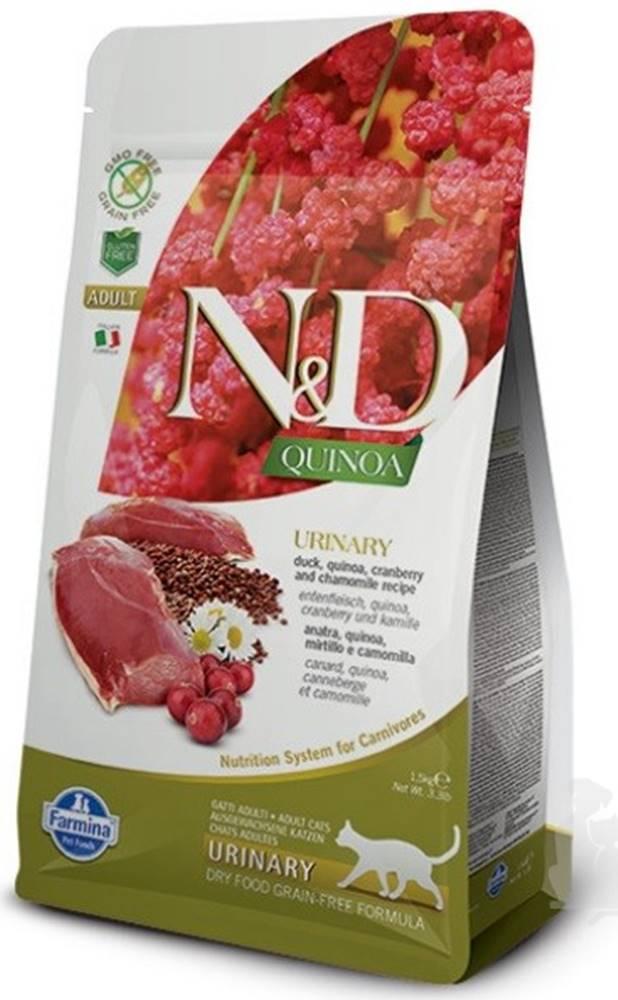N&D (Farmina Pet Foods) N&D GF Quinoa CAT Urinary Duck & Cranberry 5kg