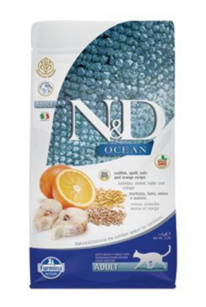 N&D N&D OCEAN LG CAT Adult Codfish & Orange 1,5kg