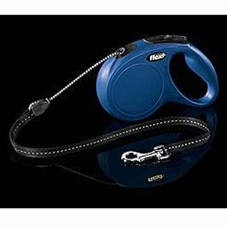 Vodítko FLEXI Classic NEW M lanko 8m/20kg modrá