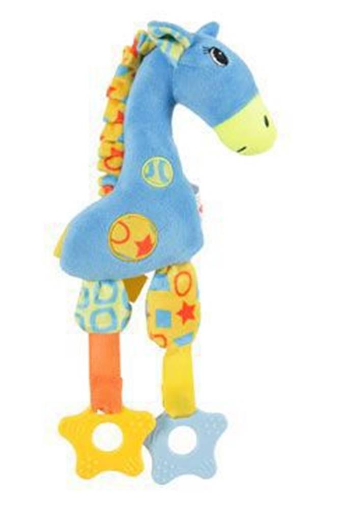 Zolux Hračka pes GIRAFFE COLOR plyš modrá 29cm Zolux