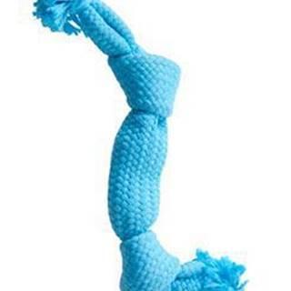 Hračka pes BUSTER Pískací lano, modrá, 35 cm, M