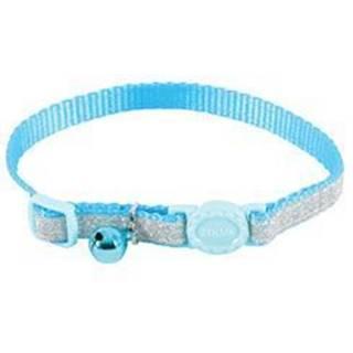 Obojok mačka SHINY nylon modrý 10mm / 30cm Zolux