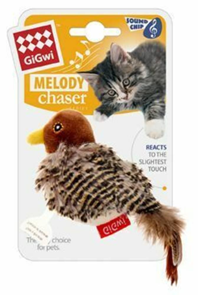 GiGwi Hračka mačka GiGwi Melody Chaser Ptáček sa zvuk.čipem