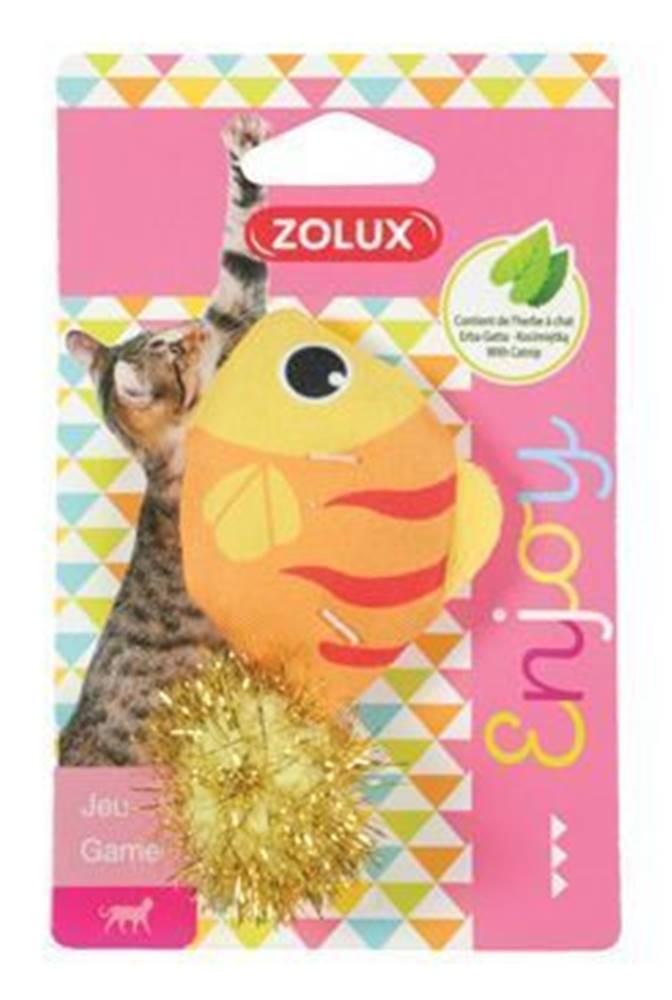 Zolux Hračka mačka LOVELY s santa ryba Zolux