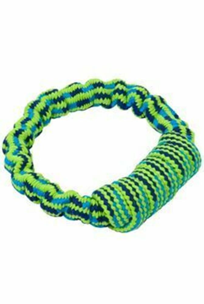 Kruuse Jorgen A/S Hračka pes Bungee Kruh modrá / zelená 16cm