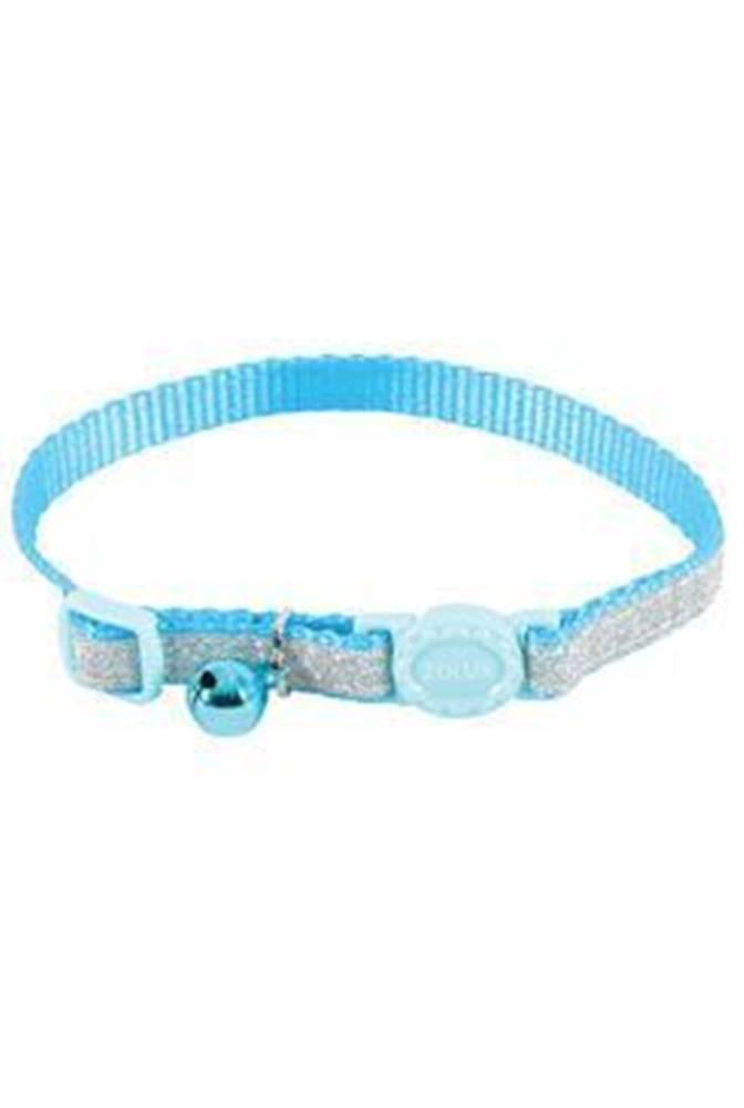 Zolux Obojok mačka SHINY nylon modrý 10mm / 30cm Zolux