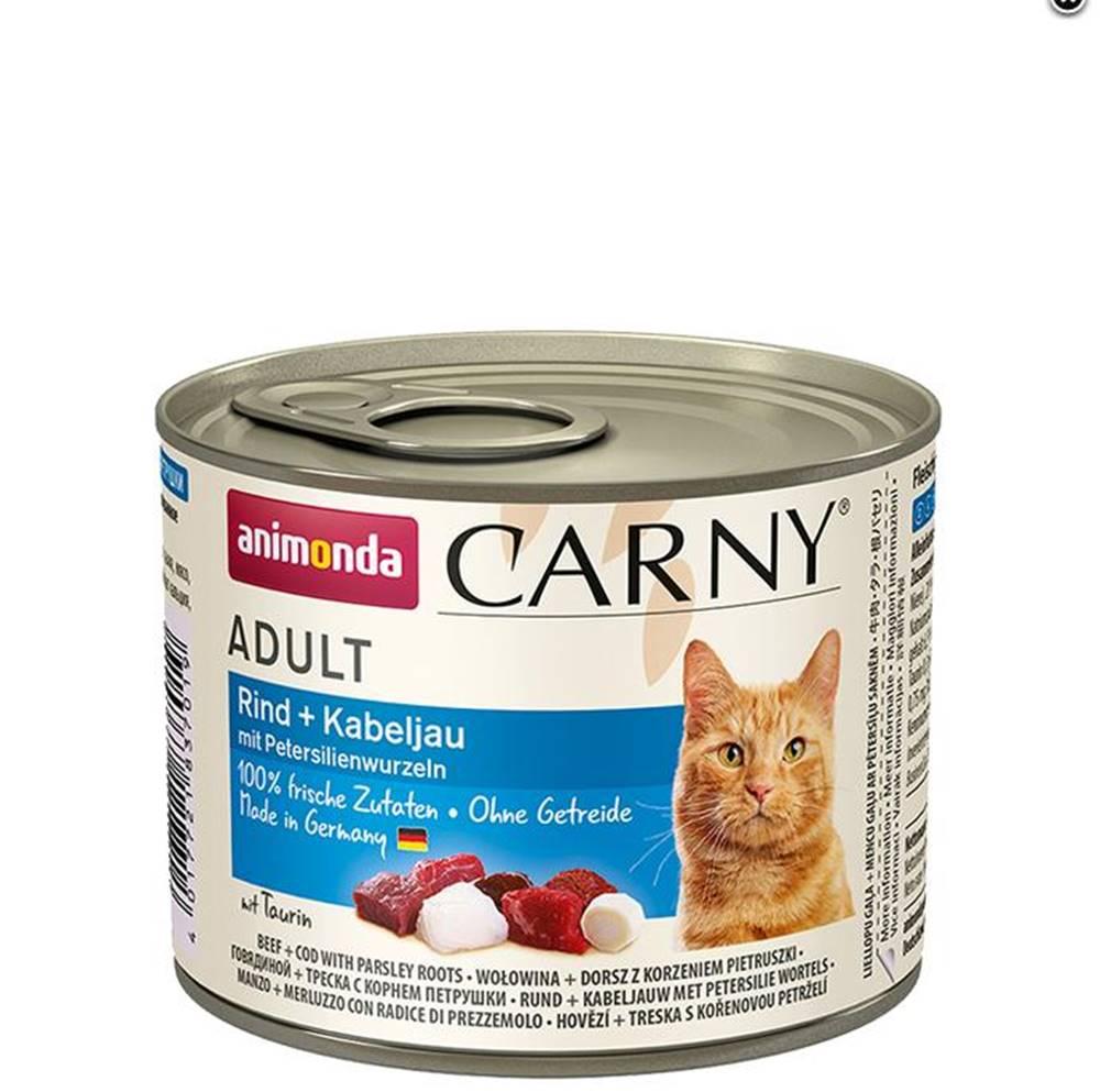 Animonda ANIMONDA cat konzerva CARNY hovädzie/treska/petržlen - 200g