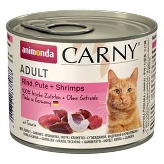 ANIMONDA cat konzerva CARNY hovädzie/morka/krevety - 200g