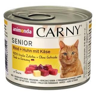 ANIMONDA cat konzerva CARNY SENIOR hovädzie/kura/syr - 200g