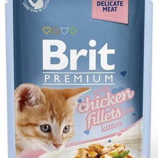 BRIT cat  kapsa  FILLETS  KITTEN chicken/šťáva - 85g
