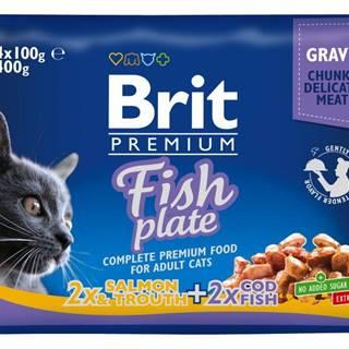 BRIT cat  vrecko  4x100g - Rybie menu