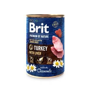 BRIT dog Premium by Nature TURKEY with LIVER - 400g
