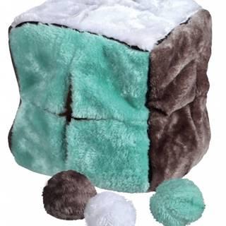 HRAČKA Plyšová kocka s loptičkami - 21cm