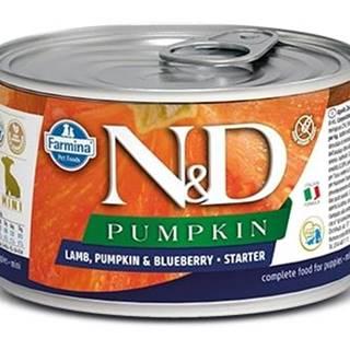 N&D dog GF PUMPKIN konz. STARTER MINI lamb/blueberry - 140g
