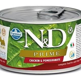 N&D dog PRIME konz. ADULT MINI chicken/pomegranate - 140g