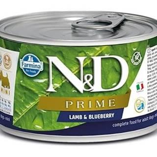 N&D dog PRIME konz. ADULT MINI lamb/blueberry - 140g