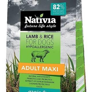 NATIVIA dog ADULT MAXI lamb - 15kg