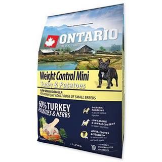 ONTARIO dog WEIGHT CONTROL MINI turkey - 2.25kg