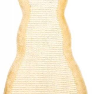 Škrabadlo závesné tvar Mačička Béžové - 35x69cm
