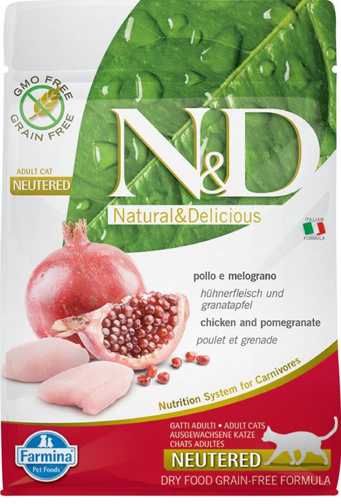 Natural&Delicious N&D cat GF NEUTERED CHICKEN / POMEGRANATE - 300g