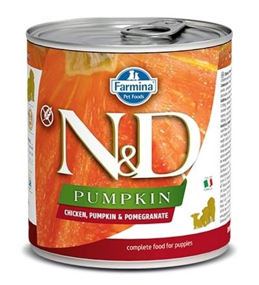 Natural&Delicious N&D dog GF PUMPKIN konz. PUPPY chicken/pomegranate - 285g