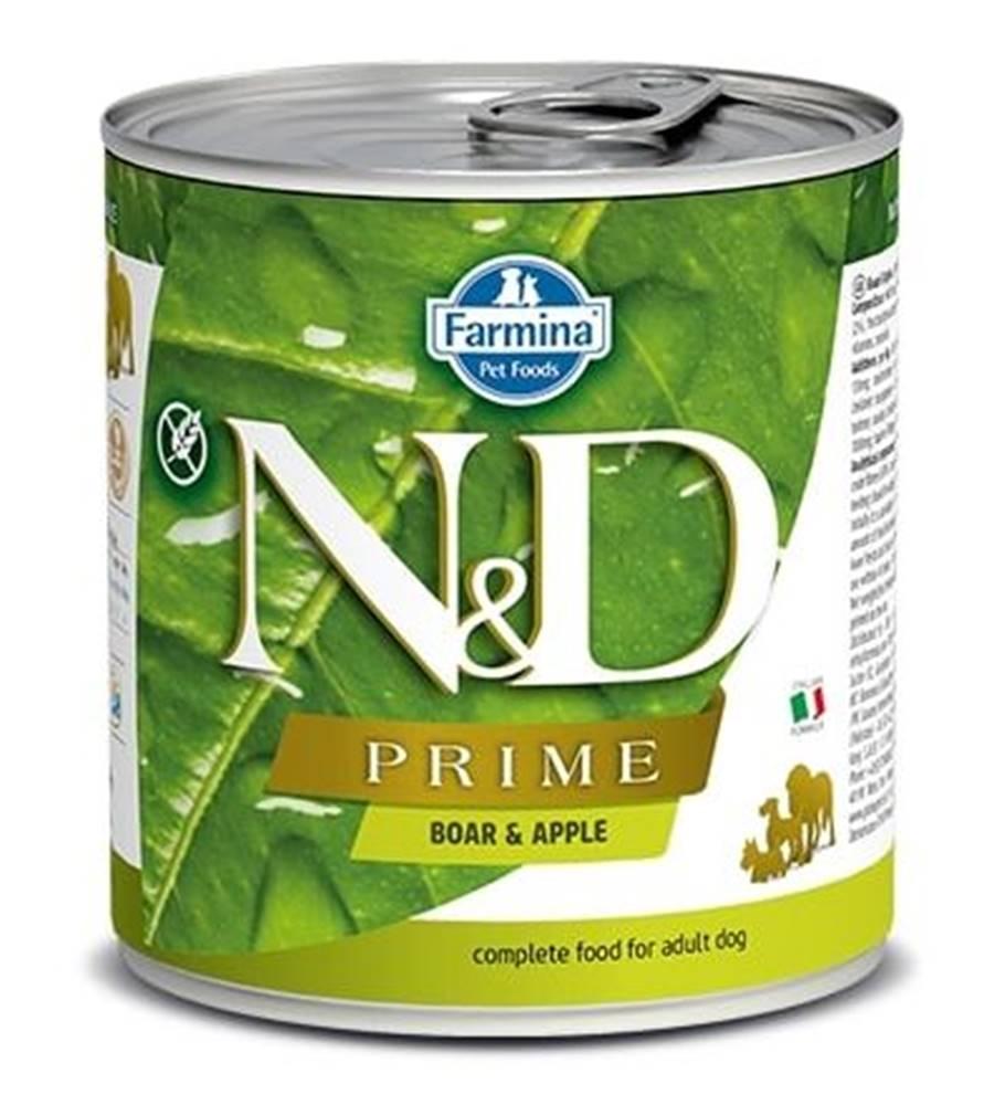 Natural&Delicious N&D dog PRIME konz. ADULT boar/apple - 285g