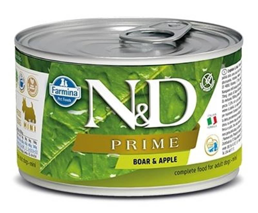 Natural&Delicious N&D dog PRIME konz. ADULT MINI boar/apple - 140g