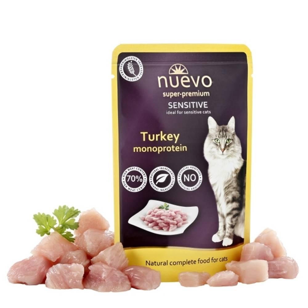 (bez zařazení) NUEVO cat kapsa  SENSITIVE TURKEY - 85g