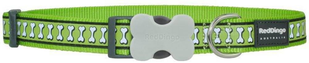 Red-dingo Obojok RD reflective LIME green - 1,2/20-32cm