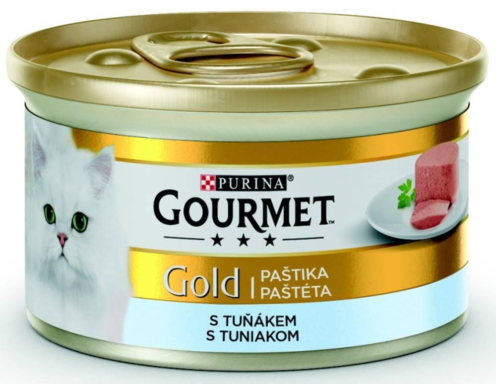 Gourme gold PURINA GG jemná paštika TUŇÁK konzerva - 85g
