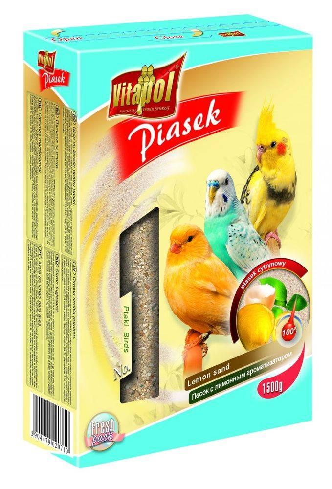 Vitapol VITAPOL piesok pre vtáky CITRÓN - 1,5kg