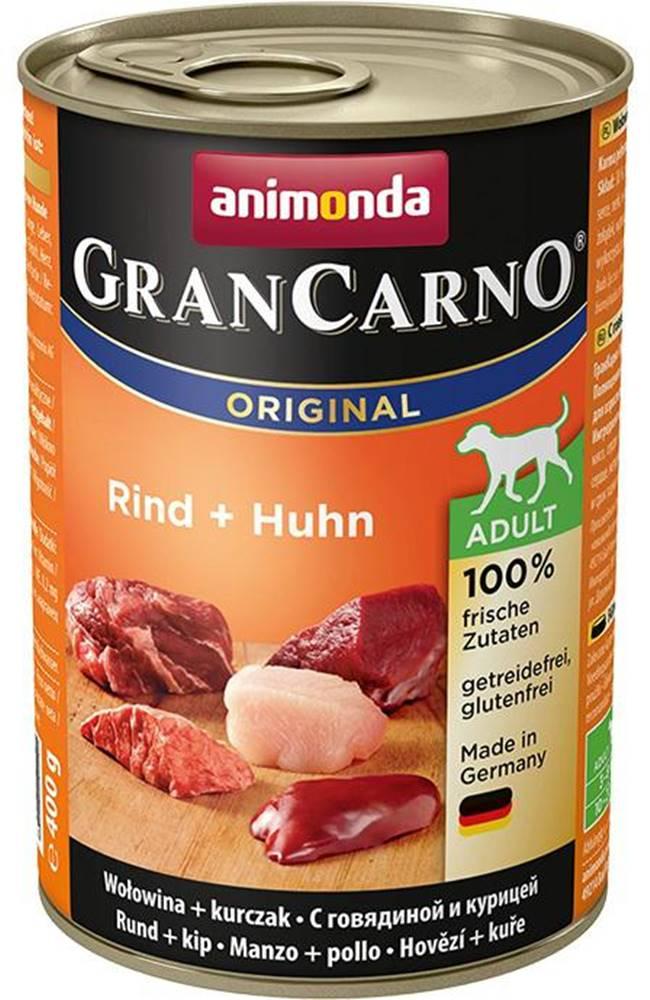 Animonda Animonda dog konzerva Gran Carno hovädzie / kura - 400g