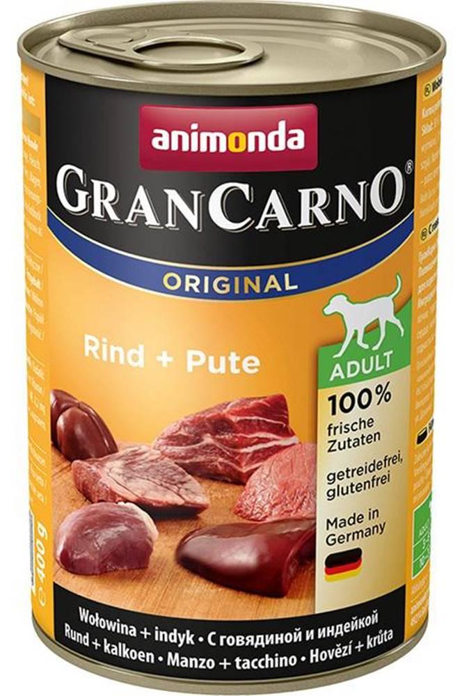 Animonda Animonda dog konzerva Gran Carno Hovädzie + Morka - 400g