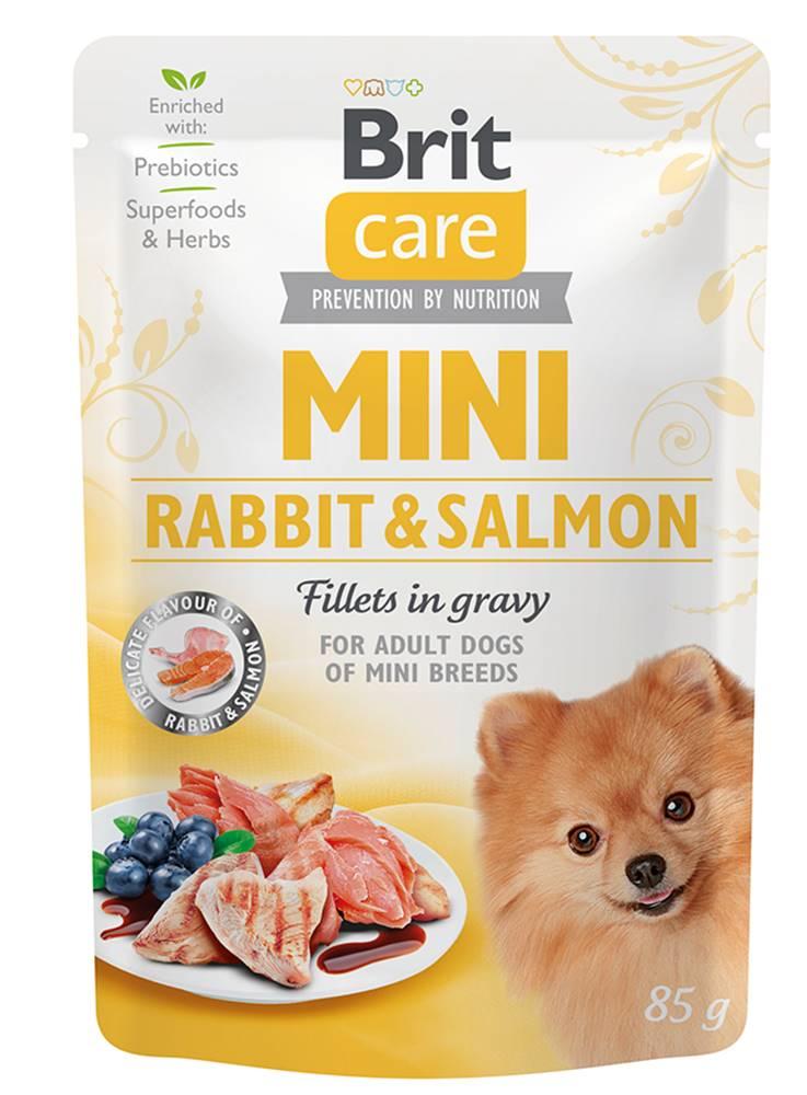 Brit Care BRIT CARE dog  MINI kapsa ADULT  rabbit/salmon - 85g