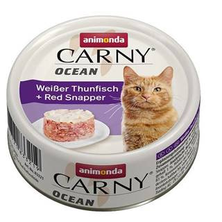 ANIMONDA cat konzerva CARNY OCEAN biely tuniak / Kanica červený - 80g
