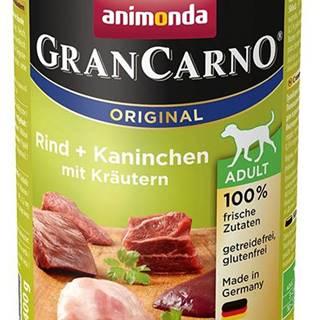 Animonda dog konzerva Gran Carno hovädzie / králik / bylinky - 400g