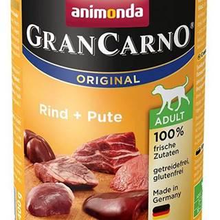Animonda dog konzerva Gran Carno Hovädzie + Morka - 400g